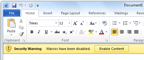 How to Delete/Remove Macro Viruses From Word Documents - Instant ...