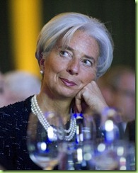 christine lagarde listens to bo