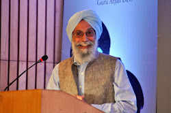 Prof Gurinder Singh Mann makes a point
