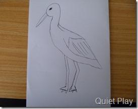 Stork sketch