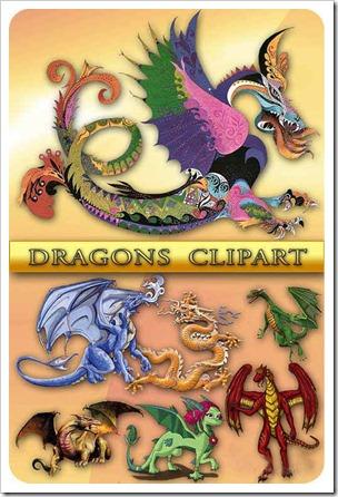 imagens de dragões em fundo branco