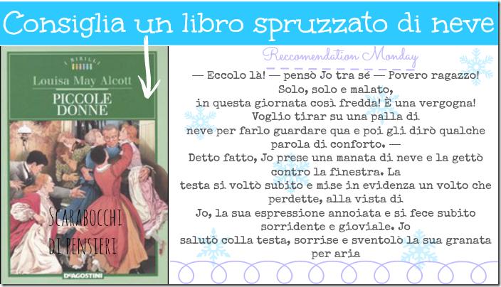 piccole donne - un libro spruzzato di neve - scarabocchi di pensieri