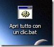 File .bat creato per aprire più programmi insieme