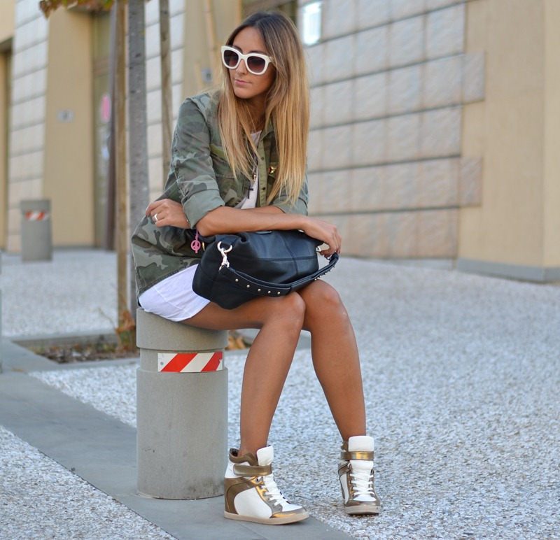 Wedge Sneakers, Primark, Zara Shirt, Givenchy Bag, Benetton, United Colors of Benetton, Wedge Trainers
