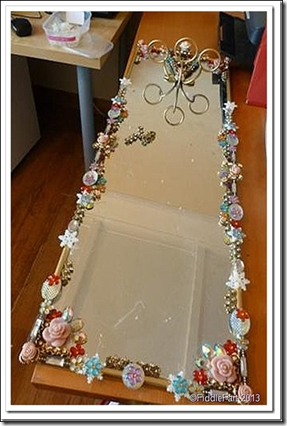 Jewelled Mirrors Upcycled 2