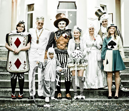 This photo of an Alice in Wonderland themed wedding but the theme of your