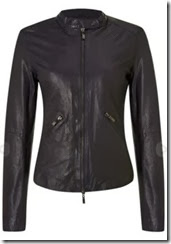 Armani Jeans Collarless Leather Jacket