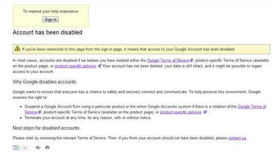 blog disabled