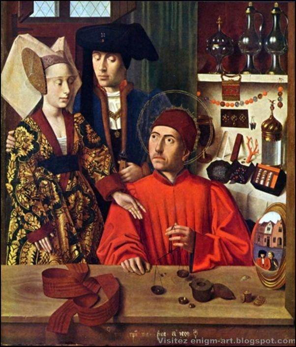 Petrus Christus, Saint Éloi et les fiançés 1449