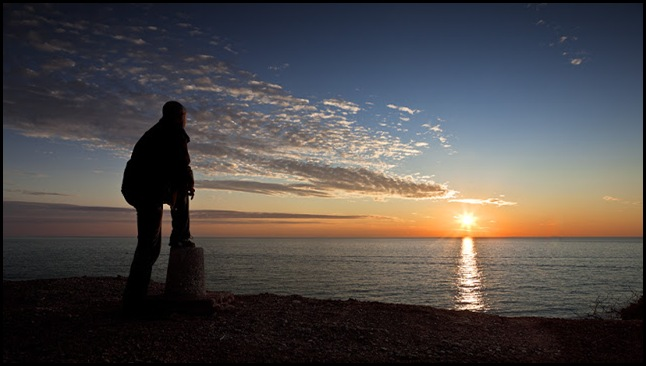 Hombre y mar