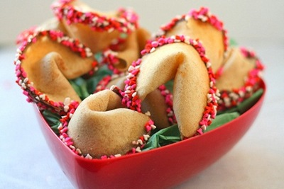 Valentine fortune cookies to make