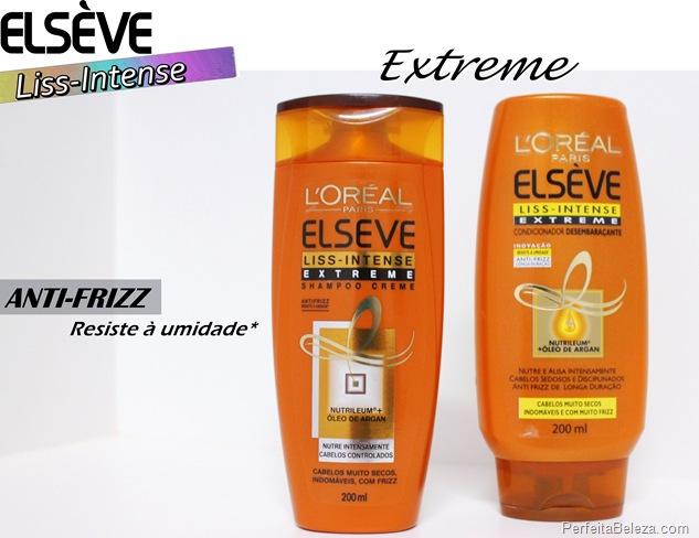 elseve shampoo e condicionador liss intense