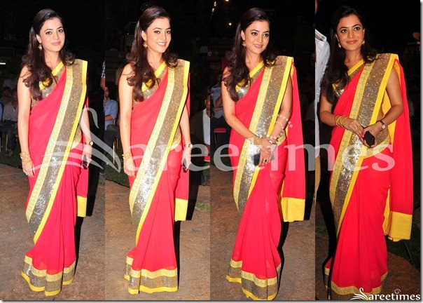 Nisha_Agarwal_Red_Saree