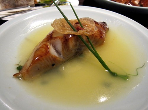 Roasted Silver Cod with Champagne and Chinese Honey