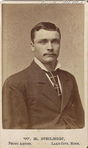 Cdv man with bold tie Dorset 3rd Shop