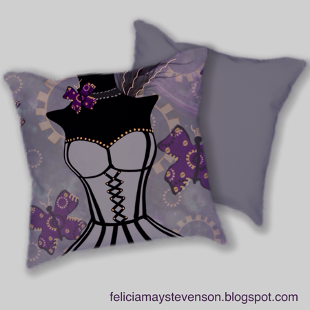 Steampunk cushion by felicianation on store envy