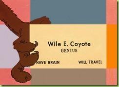 wile e coyote genius