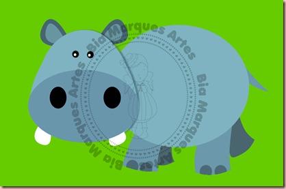 hipopótamo bia vetor