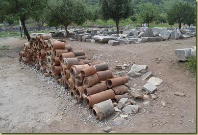 Ephesus water pipes