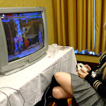 KEELY playing some street fighter alpha 3 on DREAMCAST in Toronto, Ontario, Canada