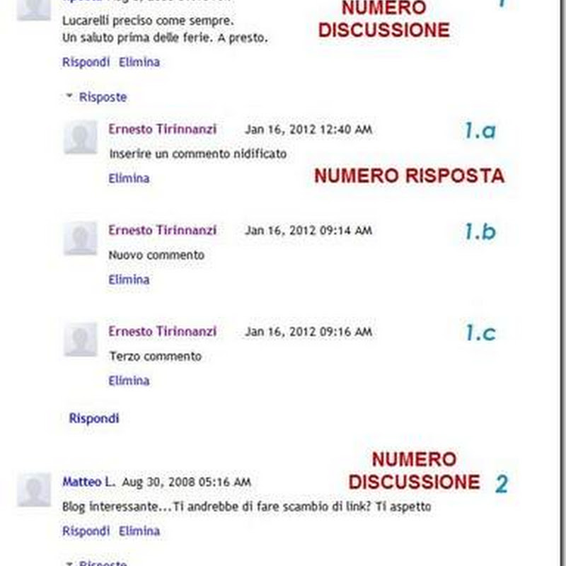 Numerazione di Commenti e Risposte in Blogger.