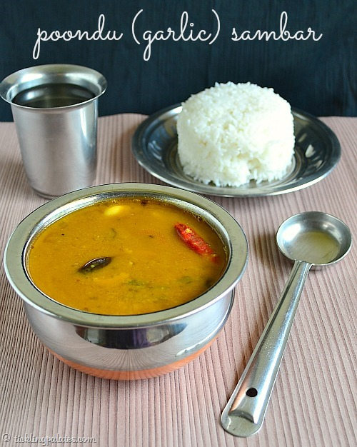 Sambar made with poondu (garlic)