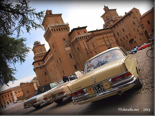 Auto storiche in centro storico 2013, Ferrara - Historic cars in the historic center, 2013, Ferrara, Italy, photo1