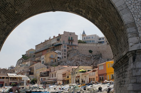 View of Marseille from boat