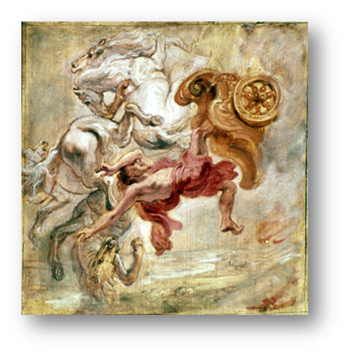 La caida de Faeton. Jan Carel van Eyck. Siglo XVII