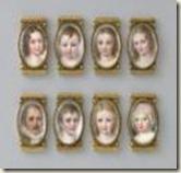 Bracelet d'Auguste-Amélie de Bavière compos de huit médaillons représentant Eugène et ses enfants
