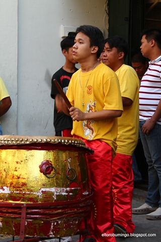 cute lion dance drummer