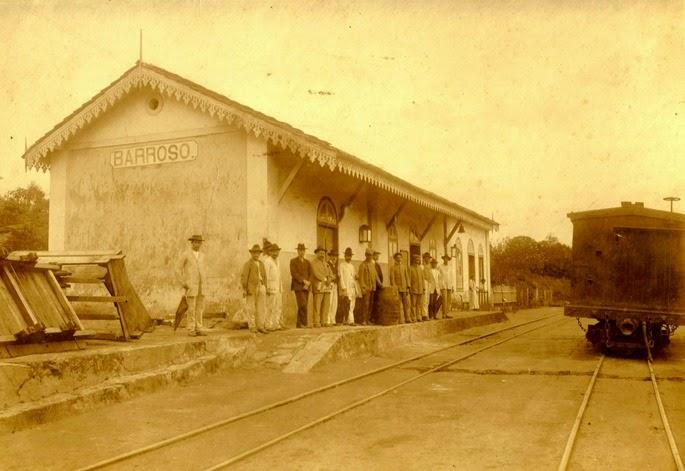 p5 ARQUIVO WELLINGTON TIBÉRIO A Estação Ferroviária de Barroso foi inaugurada em 1881 no final do período imperial. (1)
