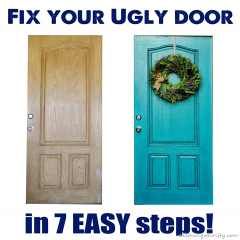 How To Paint A Front Door how to paint your {ugly} front door | all things thrifty