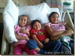 Isabella has some special visitors in the hospital!