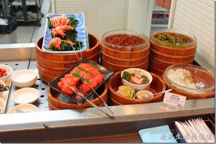 【博多祇園Hotel東名inn】的早餐,這裡也有各種的醃漬物可供選擇。