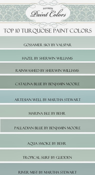 My Top Ten Turquoise Paint Colors Favorite Paint Colors Bloglovin
