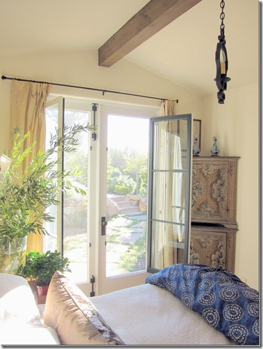montecito bedroom with antiques via cote de texas