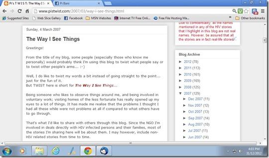 1st blog posting