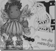 ScrapEmporium_Adri Munhoz_Summer Flower Tilda_P&B