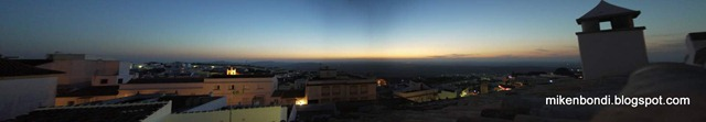 sunset over Medina-Sidonia