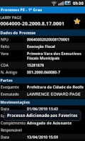 Screenshot of Processos PE - 1º Grau