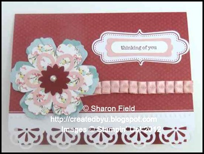 layered flower, cherry cobbler one of two cards