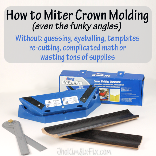 Hot to miter crown molding