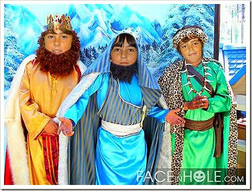 Pablo, Daniel e Matías son os Reis Magos!