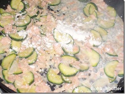 Sugo salmone zucchine