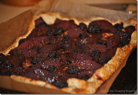 Pear, Blackberry and Chocolate Tart from A Slice of Cherry Pie