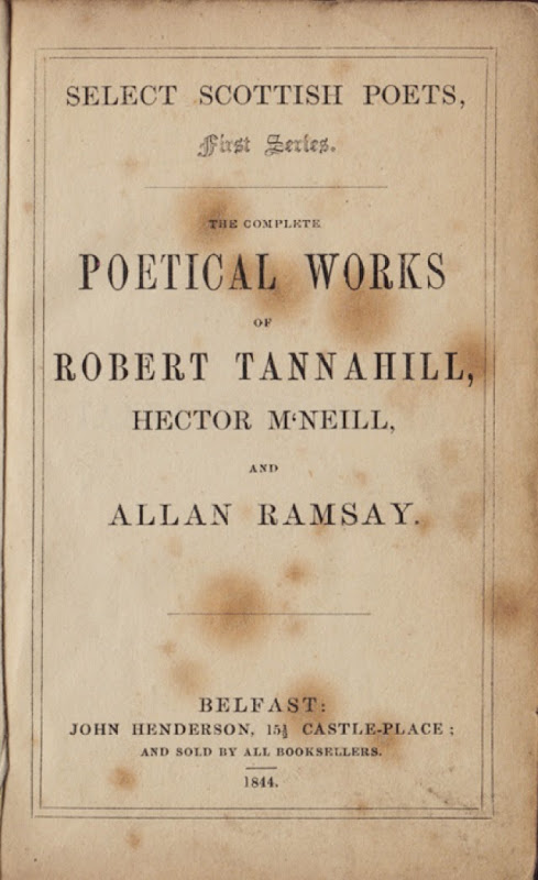 Tannahill MacNeill Ramsay Belfast 1844 LR