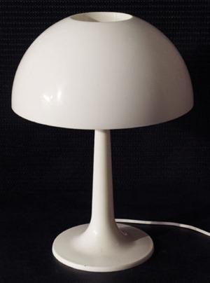 white mushroom style lamp
