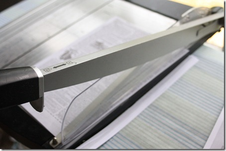Trimming images with a paper cutter
