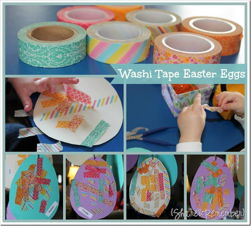 Washi Tape Easter Egg Preschool Craft